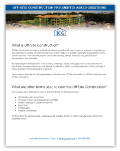 Off-Site Construction FAQs